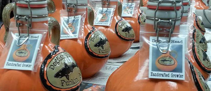 Check Out These Awesome Handcrafted Pumpkin Growlers From Dogfish Head