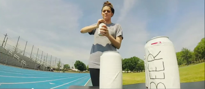 The Struggle Is Real When This Reporter Attempts to Run Her First Beer Mile