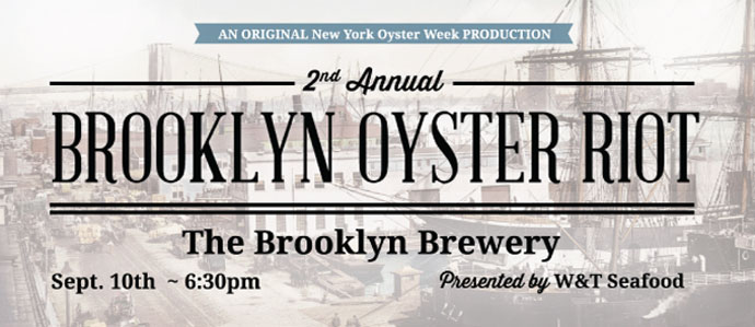 Sip and Slurp at the Brooklyn Oyster Riot at Brooklyn Brewery, Sept. 10